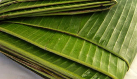 Method of preserving banana leaves