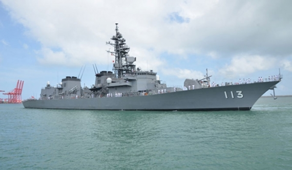 Japan's largest warship calls on Colombo Port