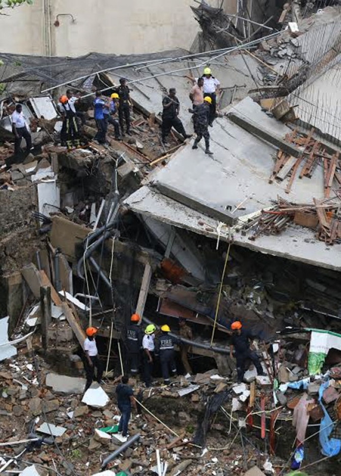 Collapsed building lacked NBRO permit?