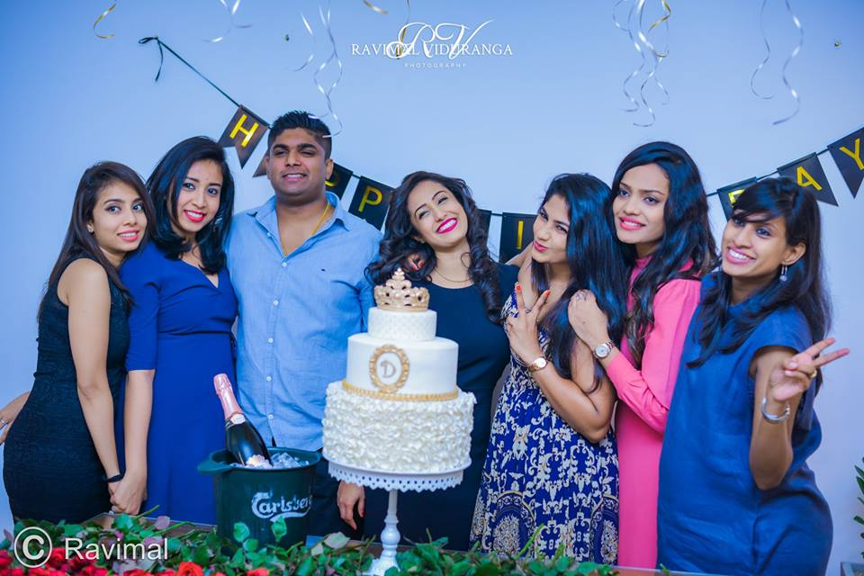 Dinithi Celebrates With Cake Amp Roses Pics