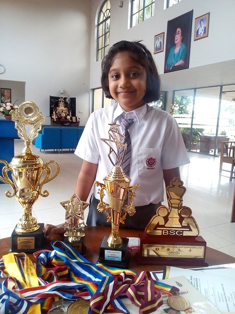 Chess prodigy Tharuli to face young chess champs in Spain