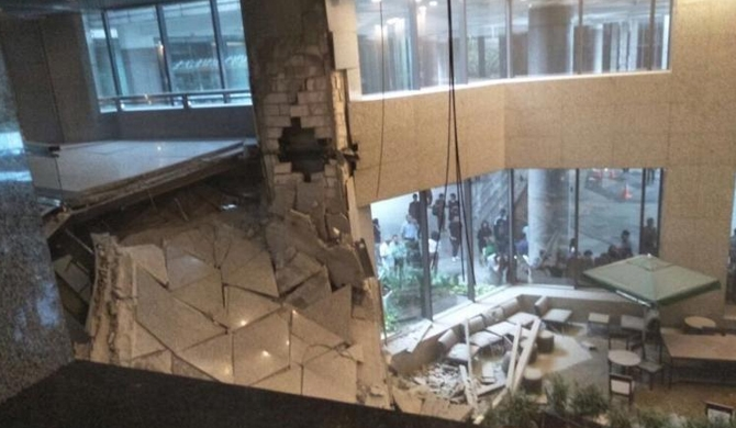 Floor collapses at Jakarta stock exchange