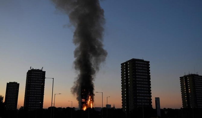 London tower block fire claims lives (Pics)