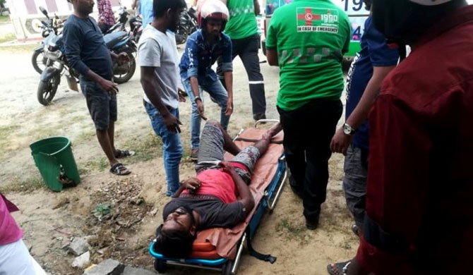 03 injured in Jaffna clash (Pics)