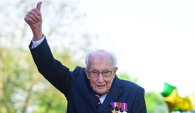 Tributes flood in as Capt. Tom celebrates 100th birthday