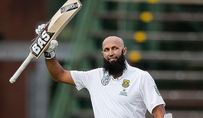 Amla scores century in 100th Test