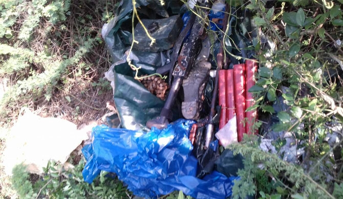 Explosives found from Nadukuda