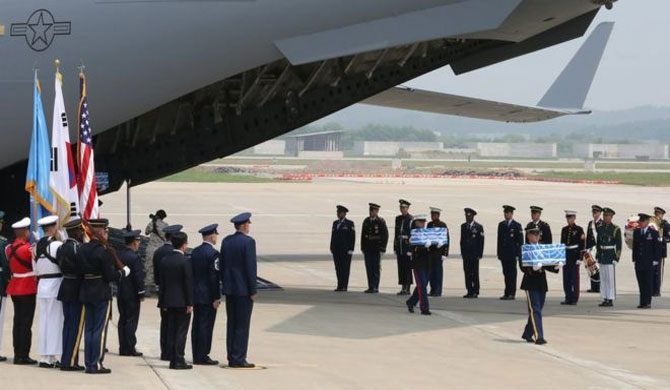 N. Korea returns US troops' remains