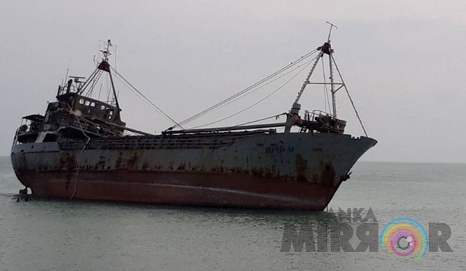 Fire erupts in stranded ship at Myliddy (Pics)