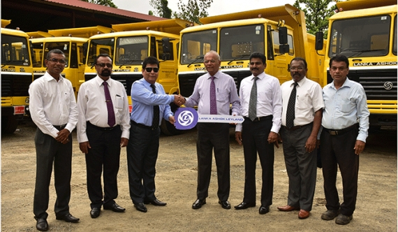 Ashok Leyland supplies tippers for local construction firms