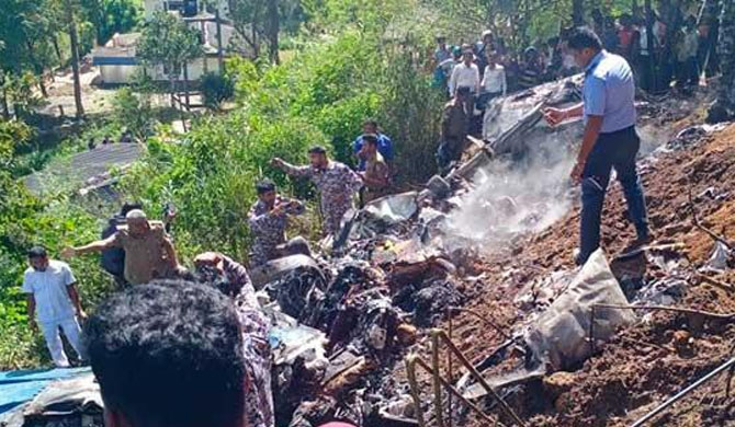 Aircraft crash kills 4 SLAF personnel in Haputale