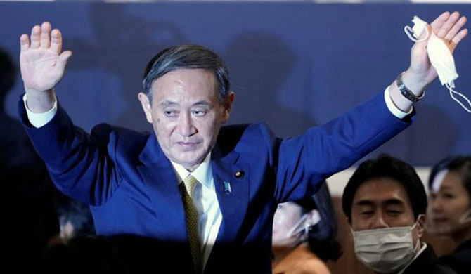 Yoshihide Suga elected to succeed Shinzo Abe