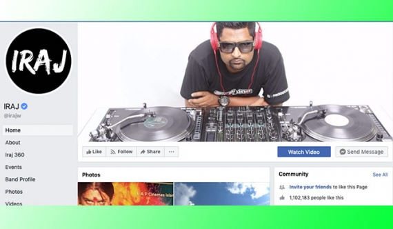 Iraj's FB page back in action