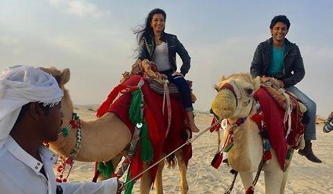 Saranga, Sachini take camel ride