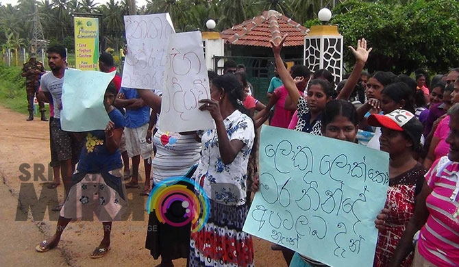 Chilaw Plantation in protest over bonus issue