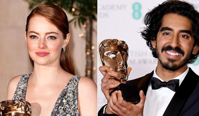 Emma, Dev win at BAFTAs