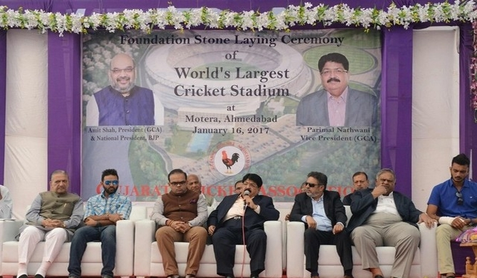 India begins building world's biggest cricket stadium