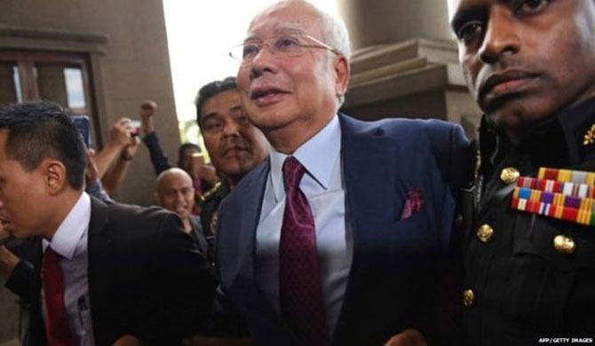 Fmr. Malaysian PM charged