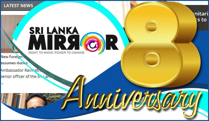 'Sri Lanka Mirror' turns 8!
