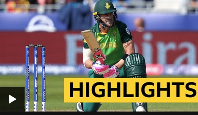 Sri Lanka's semi-final hopes dented by SA (Match Highlights)