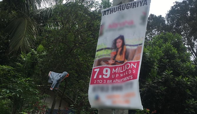 Legal action against property sale banners!