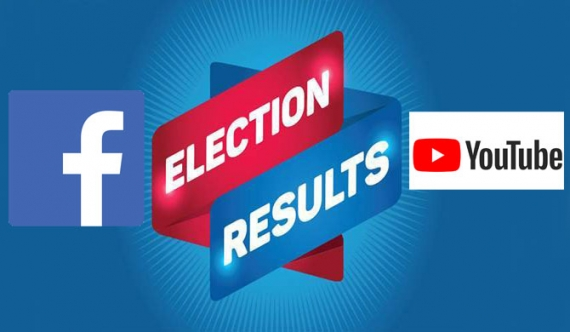 Election results on FB and YouTube