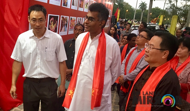 Champika dons red for Chinese Cultural Fair (Pics)