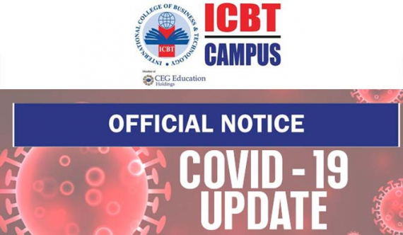 ICBT student tests positive for Covid-19