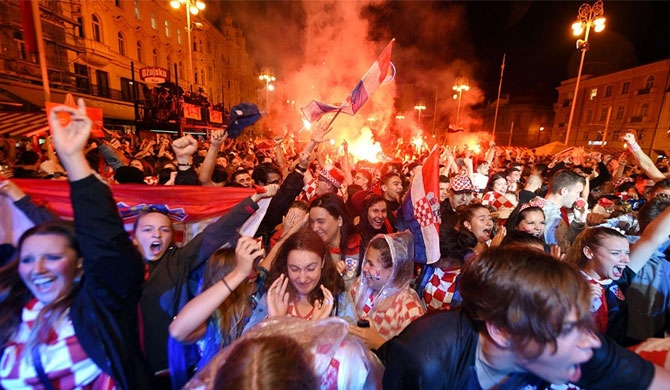 Croatia on fire after qualifying for finals (Video)