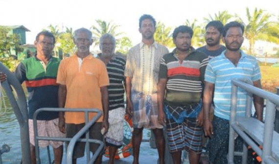 Lankan Navy saves lives of Indian sailors