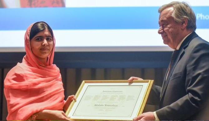 Malala, youngest UN Messenger of Peace