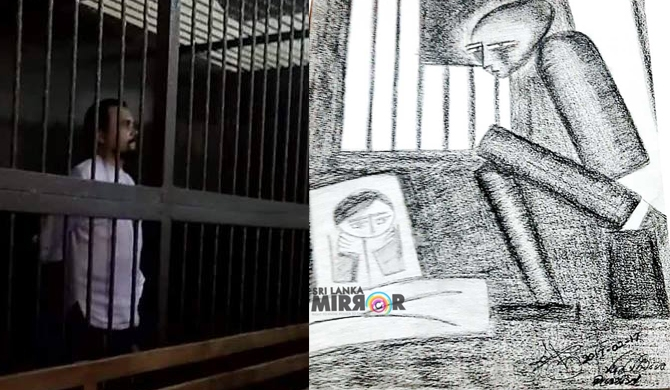 Wimal's paintings while in prison