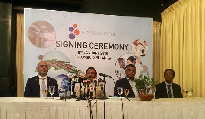 Agreements signed for Pharmaceutical manufacturing zone in SL