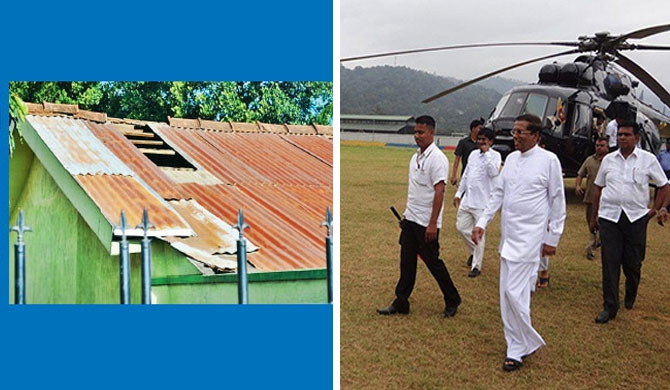 Ayurveda clinic roof blown away due to helicopter landing