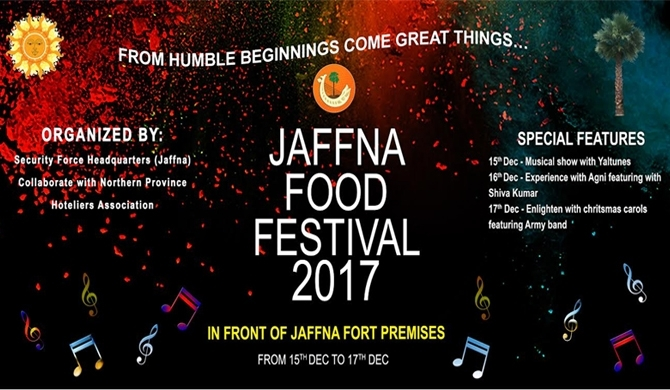 'Jaffna Food Festival' on Dec. 15-17