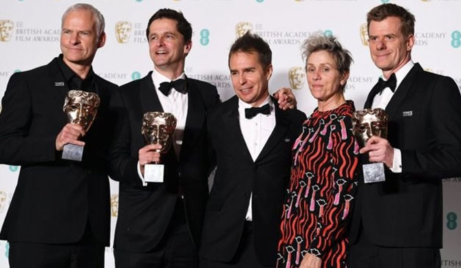 Three Billboards wins big at Baftas