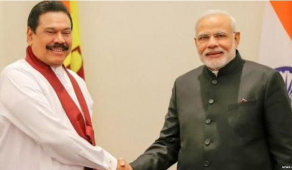 Meeting between Mahinda Rajapaksa & Narendra Modi (file photo)