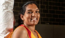 Tharjini Sivalingam: The 40-year-old tallest netballer in the world who almost never misses