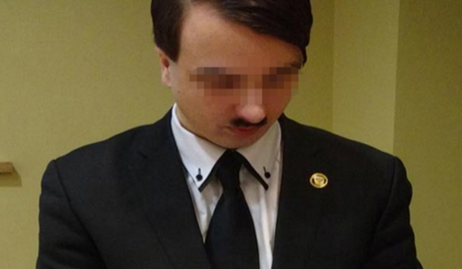 Hitler lookalike arrested
