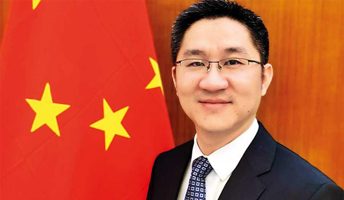 Hu Wei, Chargé d'affaires of the Chinese Embassy in Sri Lanka