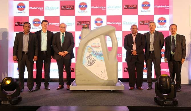 From left: Ideal Motors Director Automotive Chaminda Wanigaratne, Mahindra & Mahindra General Manager and Sri Lanka Country Head Sagar Bhadkamkar, Lanka IOC PLC Managing Director Shyam Bohra, Ideal Group Deputy Chairman Aravinda De Silva, Mahindra & Mahindra Head of Customer Care International Operations Ravi Krishnamoorthy and Lanka IOC PLC Senior Vice President, Lubes (Marketing & Productions) Sumit Nimkar