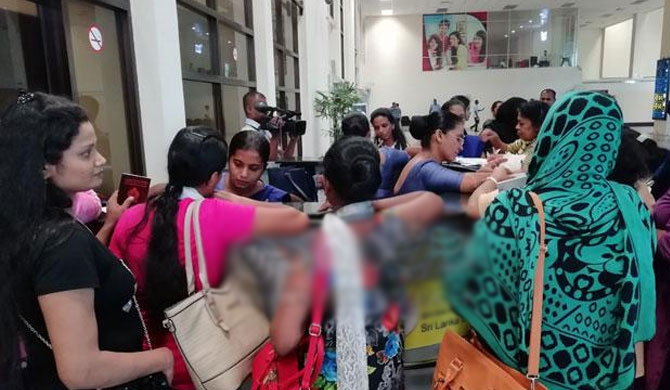 60 SL housemaids brought back home by SLBFE