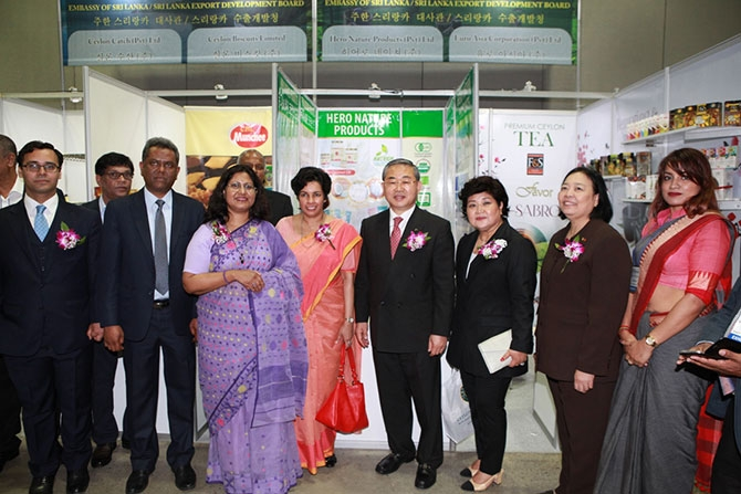 Sri Lankan products at Seoul Import Goods Fair 2018