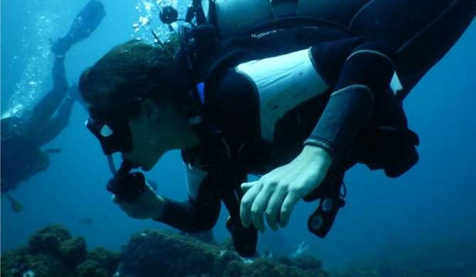 2 sisters dive to save a coral reef