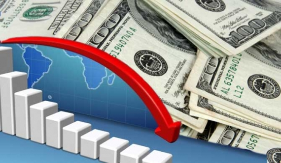 Forex reserves down by over 884 m USD last month