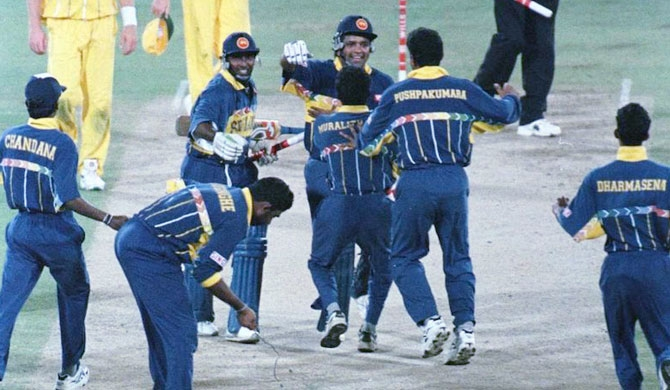 Medals awarded by ICC to 1996 champions, hidden by SLC