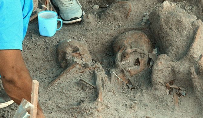 50 bodies, including children found from Mannar mass grave
