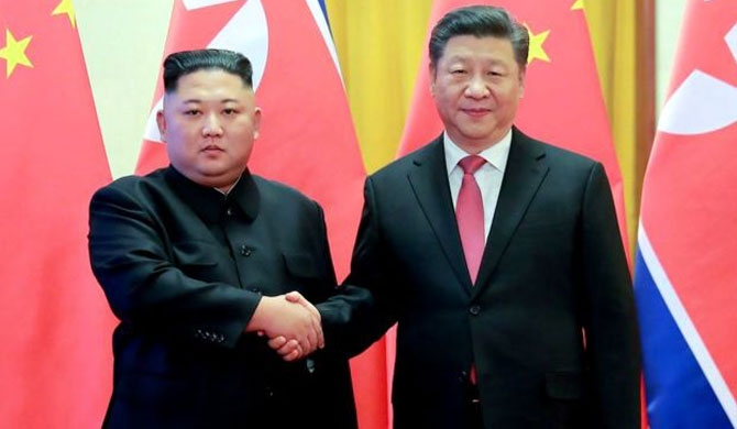 Xi Jinping in N. Korea