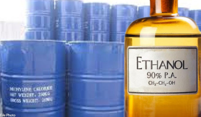 2 m litres of Ethanol imported despite import ban