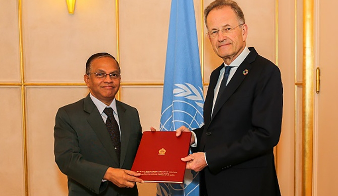 Ambassador Azeez presents credentials in Geneva